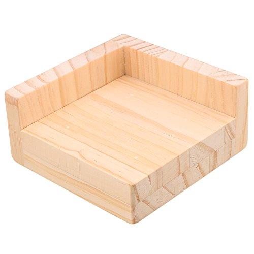 RDEXP L-shaped Semi-closed Lift Wood Bed Desk Riser Lifter Table Furniture Soft Feet Lifts Storage 11.5x11.5x5.3cm by RDEXP (Image #5)