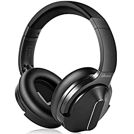 Active Noise Cancelling Headphones, ALLCACA Wireless Headphones Over Ear with Mic Deep Bass 30 Hrs Playtime Hi-Fi Sound Adjustable Headsets Built-in Mic for Travel/Work with PC,Cellphone,Tablet