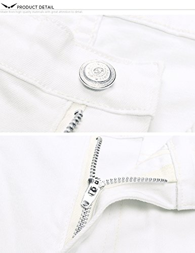 X Hombre Series Skinny X Demon amp;Hunter Jeans Pitillos Skinny Pantalones 808 Dh8088 Vaqueros Blanco qCUwS