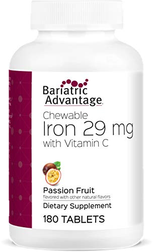 Bariatric Advantage - Chewable Iron 29mg - Passion Fruit, 180 Count (Iron Advantage Chewable Bariatric)