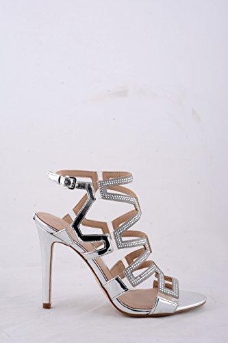 100 Donna Scarpe Strass Modello Guess Padton Ds17gu68 Silver Tc Con Uqrw8TRwd