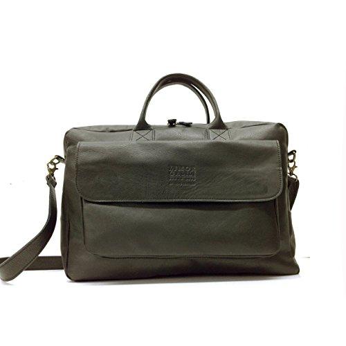 Handmade 13 inch mackbook bag for men nappa Black Leather laptop cross body messenger briefcase