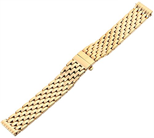 MICHELE MS18AU246710 Deco 18mm Stainless Steel Gold Watch Bracelet by MICHELE