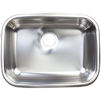 Kindred FSUG100-18BX Single-Bowl Under Mount Kitchen Sink, Stainless Steel
