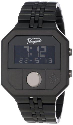 Original Penguin Men's OP3034BK Cary All Black Stainless Steel Digital Watch