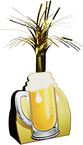Beistle 57358 Beer Mug Centerpiece, 15-Inch ()