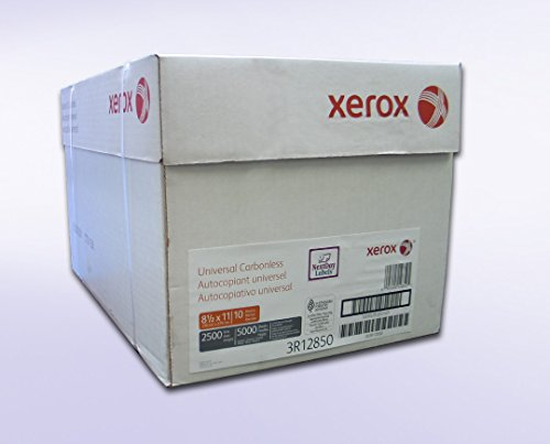 (Xerox Premium 2 Part Digital (NCR)White/Yellow Carbonless Paper, Letter Size (8.5 x 11) White/Yellow, 10 reams per pack, 5000 sheets (2,500 Sets) Item # 3R12850)