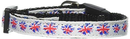 Mirage Pet Products Graffiti Union Jack UK Flag Nylon Ribbon Collar for Cat