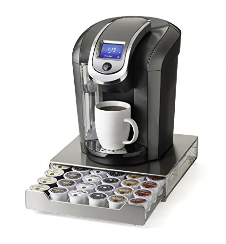 NIFTY 6498 Keurig Brewed Stainless Steel K-Cup Rolling Drawer, Metallic