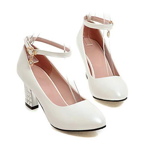 Femme Blanc Sandales AdeeSu SDC05644 Compensées qzOn46Cwx