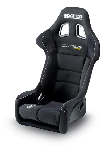 Sparco 00824FNR Corsa Black Grip Seat