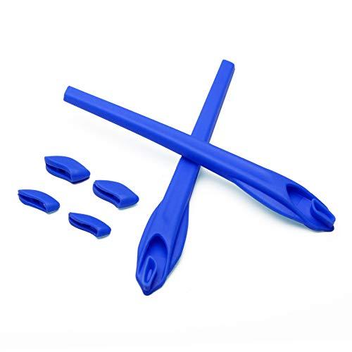 Deep Blue Ear Socks and Nose Pads for Oakley Flak 2.0 XL/Flak 2.0 Sunglasses 2 Pack Mens Socks