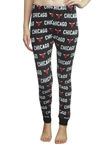 NBA Girls CHICAGO BULLS Fall / Winter Lounge / Pajama Pants S Black - Bulls Pajamas Women