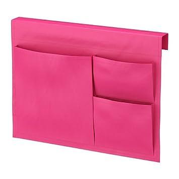 Ikea Bett Utensilo Stickat Betttasche In 3 Farben Pink Amazon De