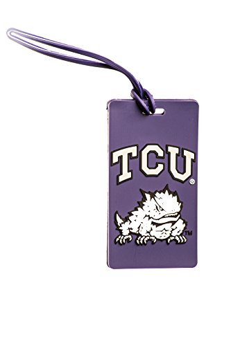 TEXAS CHRISTIAN HORNED FROGS NCAA PVC LUGGAGE TAG (University Christian Texas)