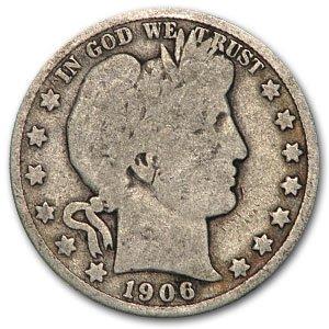 1906 D Barber Half Dollar Good Half Dollar Good