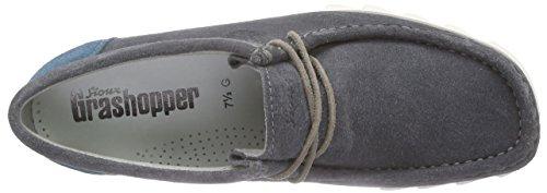 SiouxGrashopper-H-161-02 Velour/Textil - Mocasines Hombre Gris - Grau (cenere/petrolio)