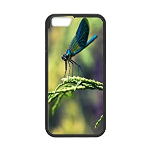 IPhone 6 Cases Blue Dragonfly Macro, Anti Fall Dragonfly Cases Naza, {Black}