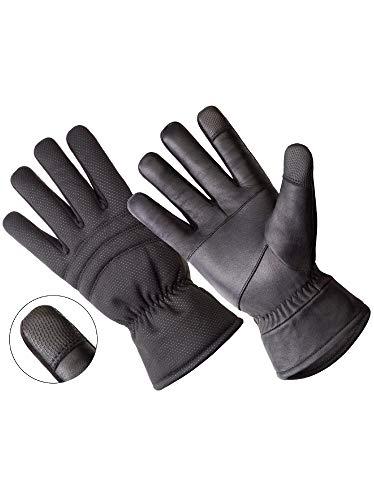 OKSLO Handson Hands ON - LD2316-OSFM, Touchscreen & Windstopper Genuine Sheepskin Leather Glov