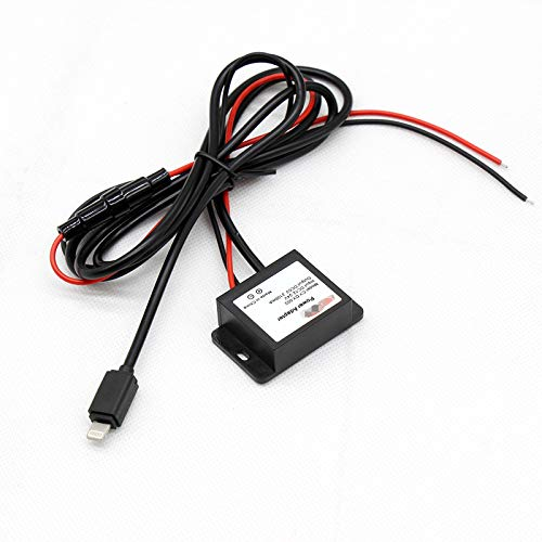 REDWOLF DC Converter Step Down Voltage Module Output Buck 12V/24V to DC5V Power Adapter Car Charging Cable Fit iPhone 5+ ()