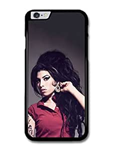 Amy Winehouse with Red T-Shirt Showing Earrings case for iPhone 6 Plus