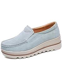 Freeship Deals Women Comfy Slip-On Platform Shoes Women Platform Slip On Loafers Comfort Wedge Shoes