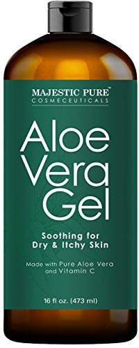 Majestic Pure Aloe Vera Gel - From 100% Pure and Natural Cold Pressed Aloe Vera, 16 fl oz (100 Pure Aloe Vera Gel For Skin)