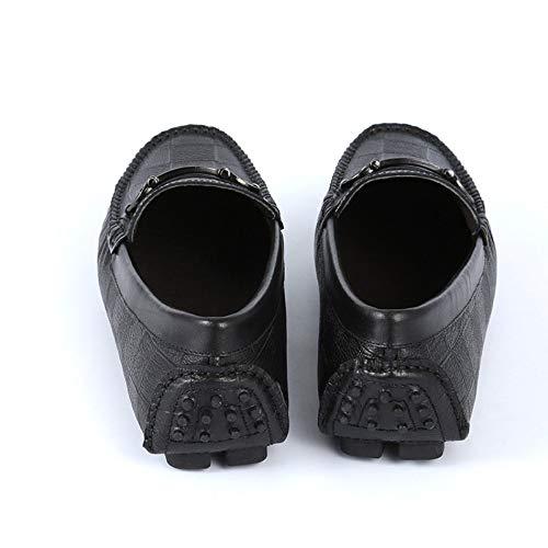 Scarpe da Pisello Casual Uomo Scarpe Uomo Eleganti Comode WLFHM da Scarpe Scarpe Black wvRqtz