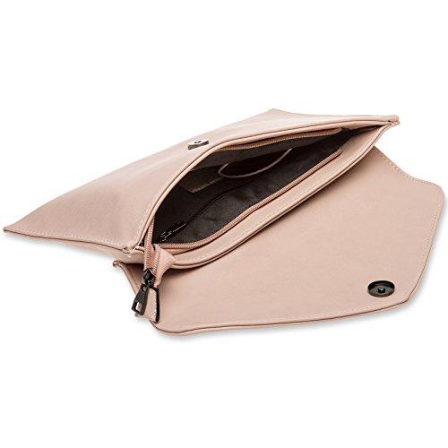 Color Bolso Clutch Mujer Correa para Mano CASPAR Elegante la Carne para Muñeca TA310 con de 4qwxwSp