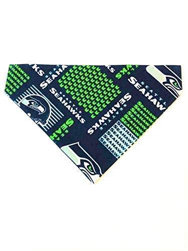Seattle Seahawks Dog Bandana No-Tie Design (Seahawk Dog Bandana)