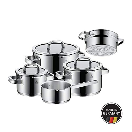 WMF 761066380Function 4Cookware Set with Steamer Insert, Stainless Steel, Transparent, 20cm, 5Units