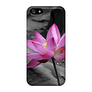 Premium AKosqBZ4611JQKVS Case With Scratch-resistant/ Flowerpink Case Cover For Iphone 5/5s