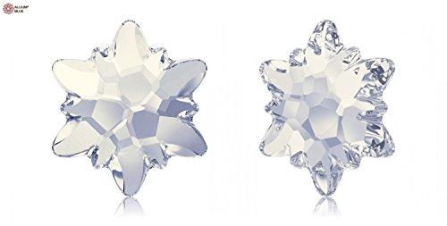 スワロフスキー Edelweiss ラインストーン (2753) 14mm - ホワイトオパール (234) 裏面プラチナフォイル x 36粒