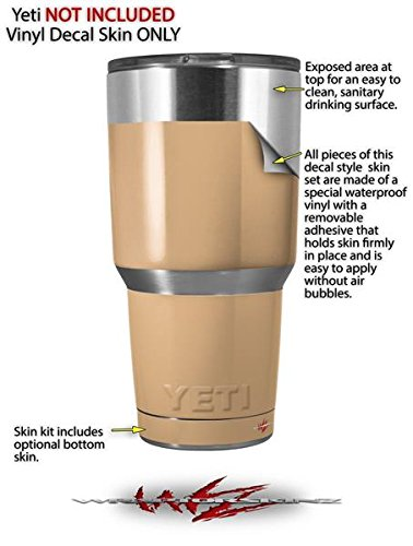 b71f85bf713 Amazon.com : Skin Decal Wrap for Yeti Tumbler Rambler 30 oz Solids  Collection Peach (TUMBLER NOT INCLUDED) : Everything Else