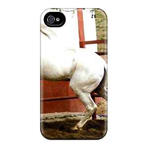 Iphone 4/4s Case Cover With Shock Absorbent Protective RFftPLD1542BQTaN Case