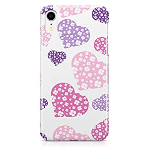 Loud Universe Case for iPhone XR Wrap Around Edges Valentines Day Couples Love Heart Pattern Durable Modern Printed Edge New iiPhone XR Cover