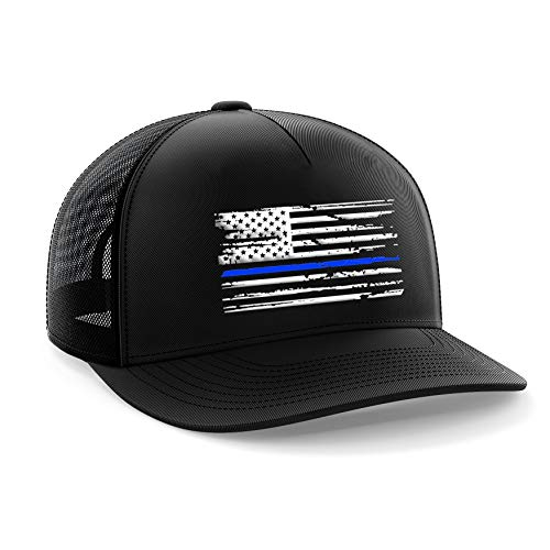 Arch Logo Hat - Tactical Pro Supply Blue Line American Flag Snapback Hat