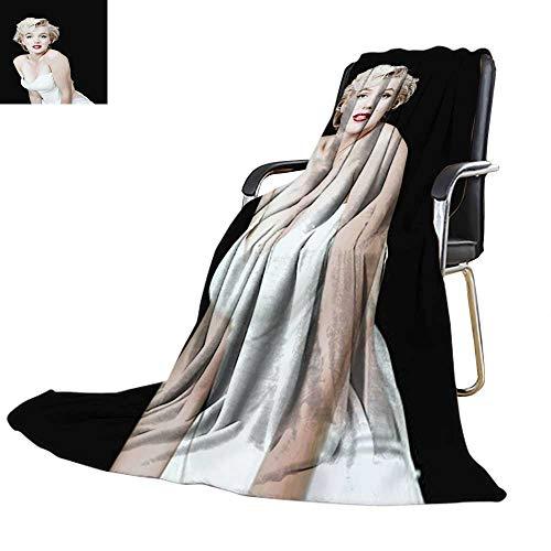 Travel Throw Blanket, Licensed Marilyn Monroe Velvet Plush Throw Blanket 60