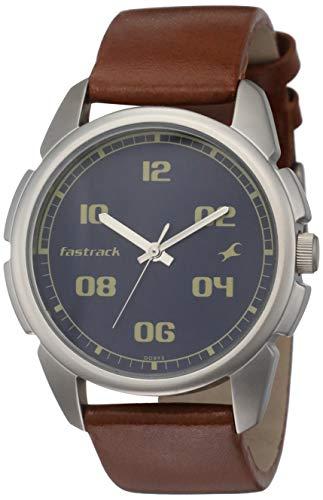 Fastrack Casual Analog Blue Dial Men's Watch NM3124SL02/NN3124SL02