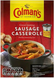 Original Colman's Sausage Casserole Sauce Mix Imported From The UK England A Seasoning Mix with Tomato Herb for Sausage Casserole Colman's Sausage British Casserole Sauce Mix