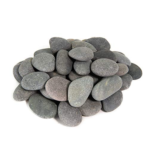 (Painting Pebbles | 10 Pound Refill | Natural, Hand-Picked, Smooth Rocks for Painting and Drawing | Arts and Crafts Stones (Blueberry, 3