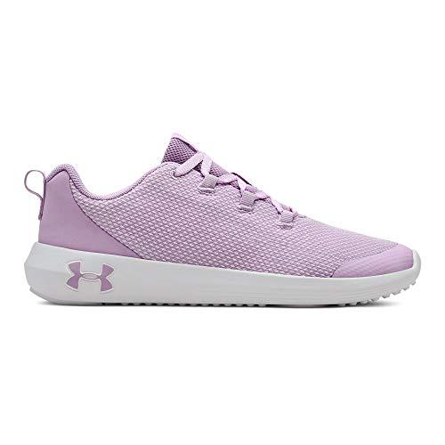 Under Armour Girls' Grade School Ripple Sneaker, Purple Ace (500)/White, 7 M US Big Kid