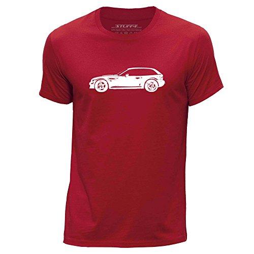 STUFF4 Uomo/Piccolo (S)/Rosso/Girocollo T-Shirt/Stampino Auto Arte / Z3 M E36/8