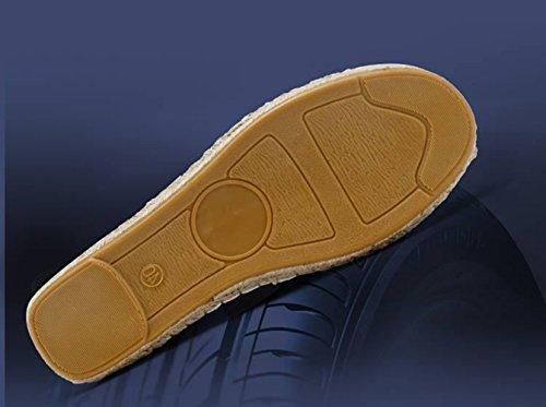 de Cuero Alpargatas Los Mocasín Hombres Casual Unisex Insun de Zapatillas Adulto Naranja xnY8twEI