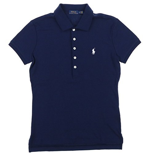 Polo Ralph Lauren Womens Polo Shirt (Large, RL Navy)