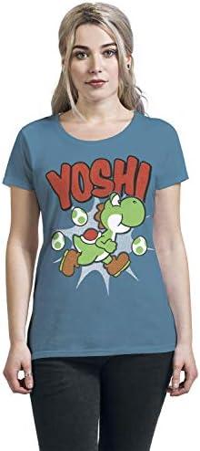 Super Mario Yoshi T-Shirt niebieski - xl: Odzież