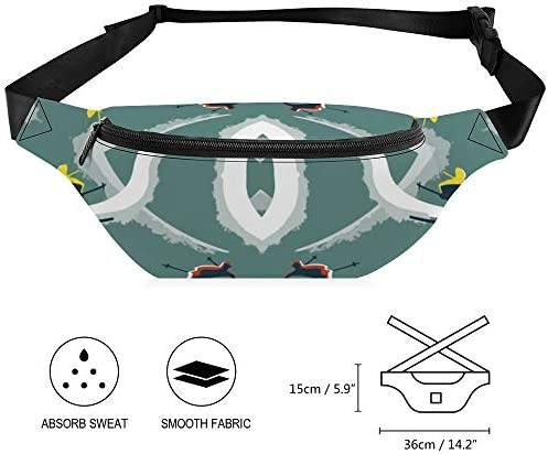 図8スキーヤー ウエストバッグ ショルダーバッグチェストバッグ ヒップバッグ 多機能 防水 軽量 スポーツアウトドアクロスボディバッグユニセックスピクニック小旅行