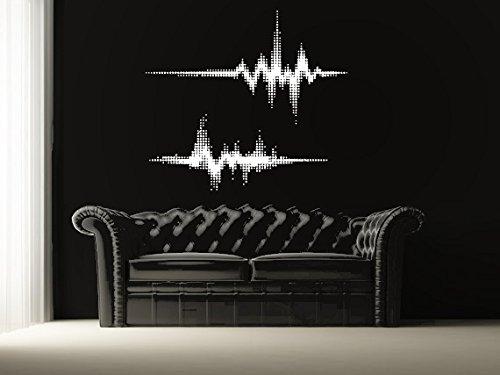 Music Equalizer House (Wall Decal Vinyl Sticker Decals Art Decor Design Music Equalizer Electro House Rock Mans Kids Gift Bedroom Dorm (r1316))