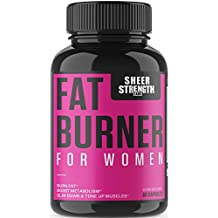 Sheer Fat Burner for Women 2.0 - Fat Burning Thermogenic Supplement, Metabolism Booster, and Appetite Suppressant Designed for Women - Sheer Strength Labs, 60 Weight Loss Pills