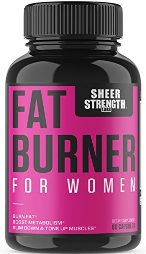 Sheer Fat Burner for Women - Fat Burning Thermogenic Supplement, Metabolism Booster, and Appetite Suppressant Designed for Women, New from Sheer Strength Labs, 60 Weight Loss Pills